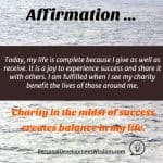 Affirmation – Charity