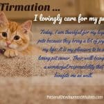 Affirmation – Loving My Pets