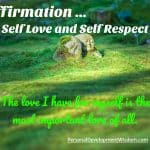 Self Love and Self Respect Affirmations