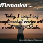Affirmation To Accept Compliments