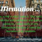 Affirmation – Adapt To New Environments