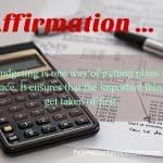 Affirmation – Budgeting