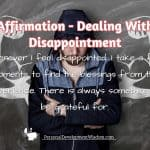 Affirmation – Dealing With Disappointment