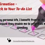 Affirmation – Stick to Your To-do List