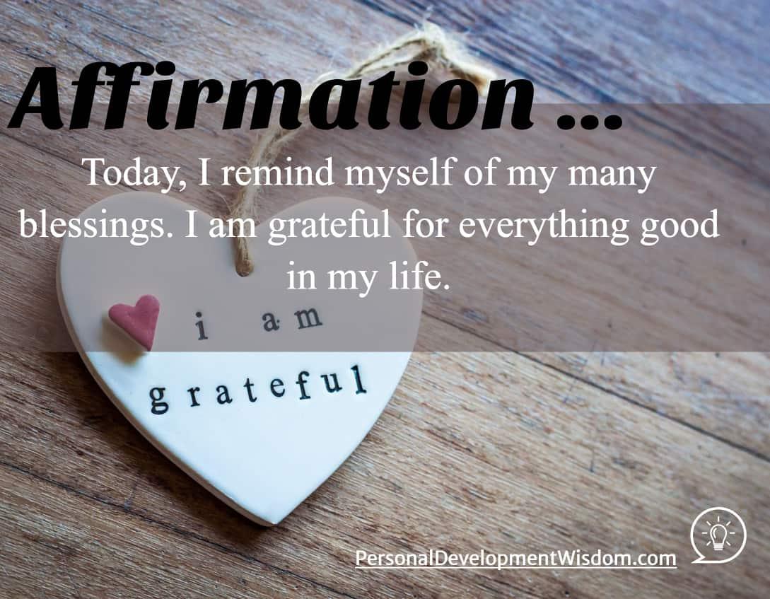 Affirmation - Appreciate, Grateful
