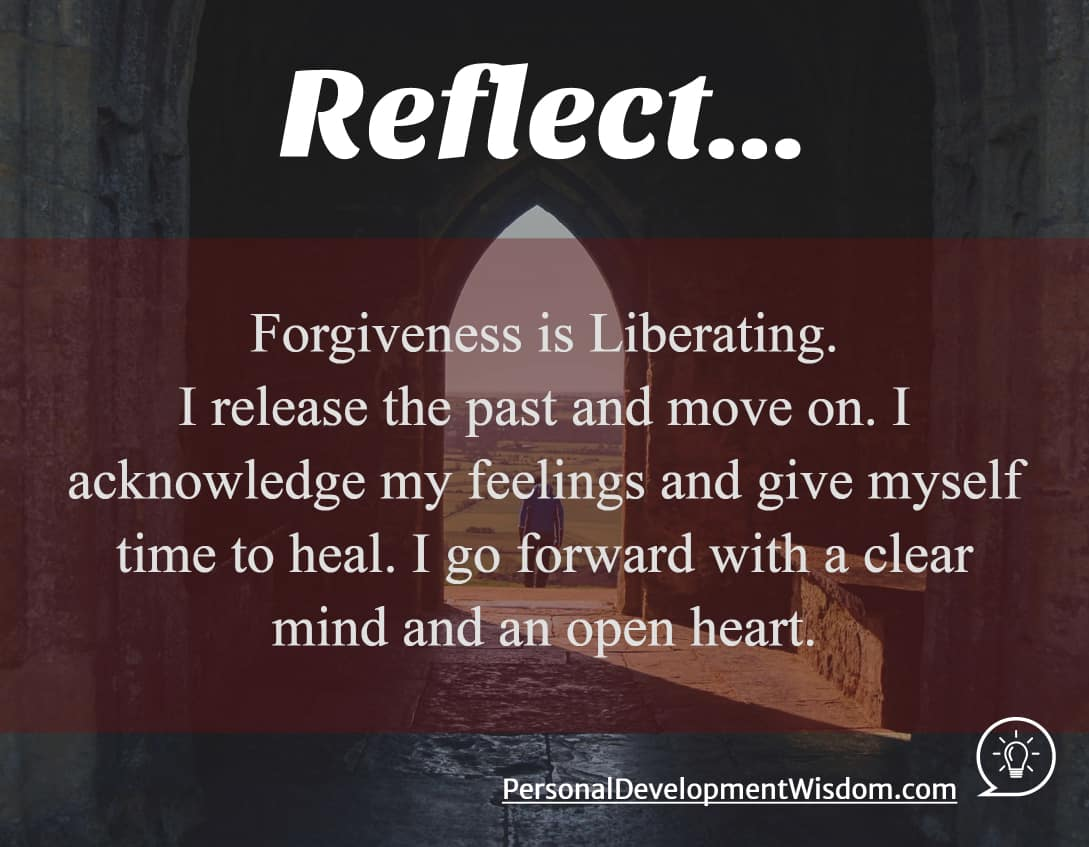 Forgiveness is Liberating