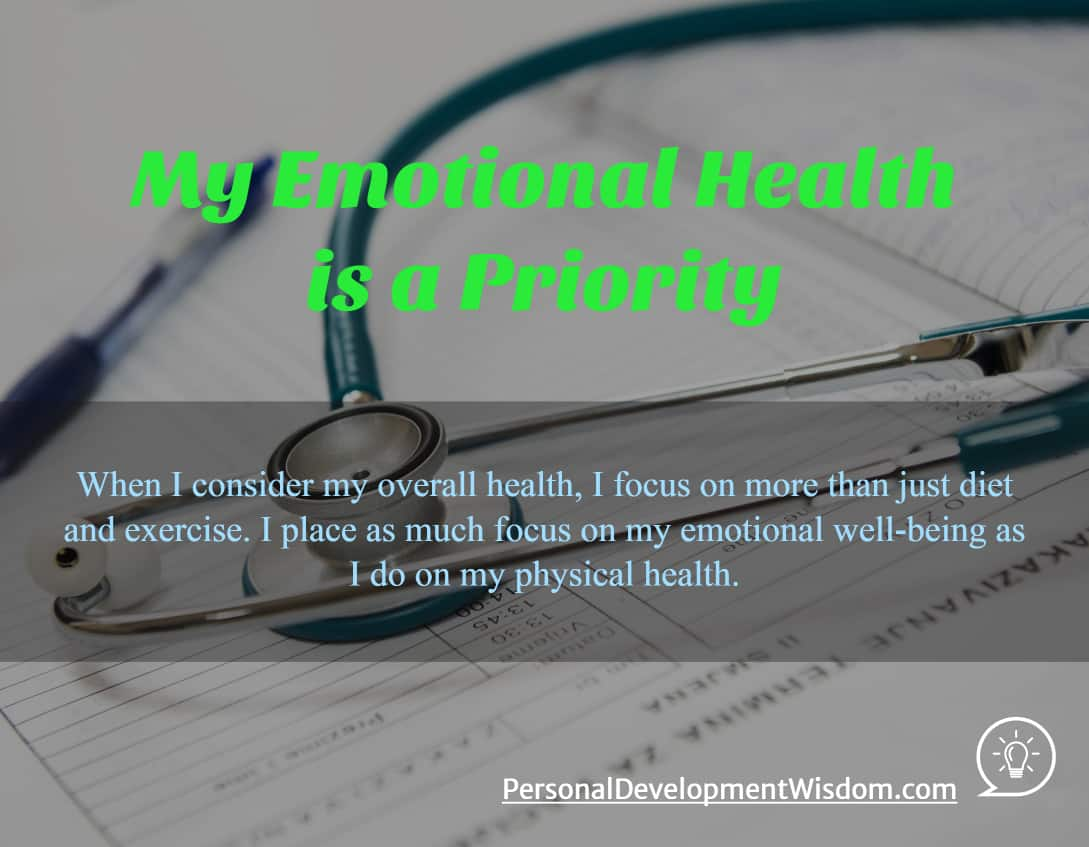 Emotional Health Is A Priority