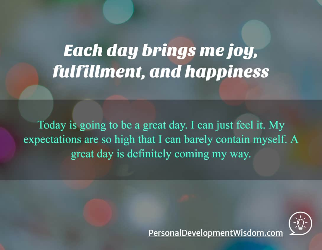 Joy, Fulfilment, Happines