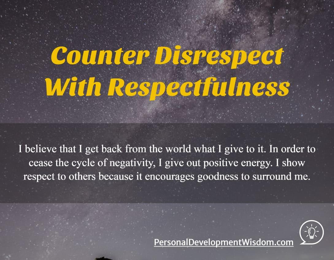 Disrespect Respect
