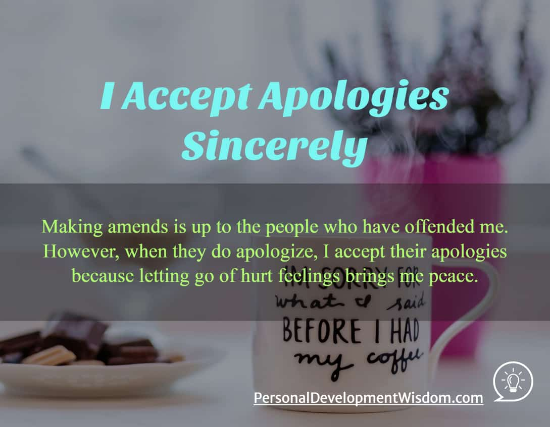 I Accept Apologies Sincerely