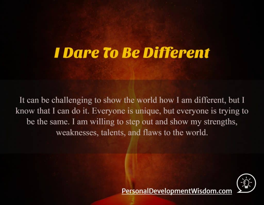 When I dare to be powerful, to use my strength in the